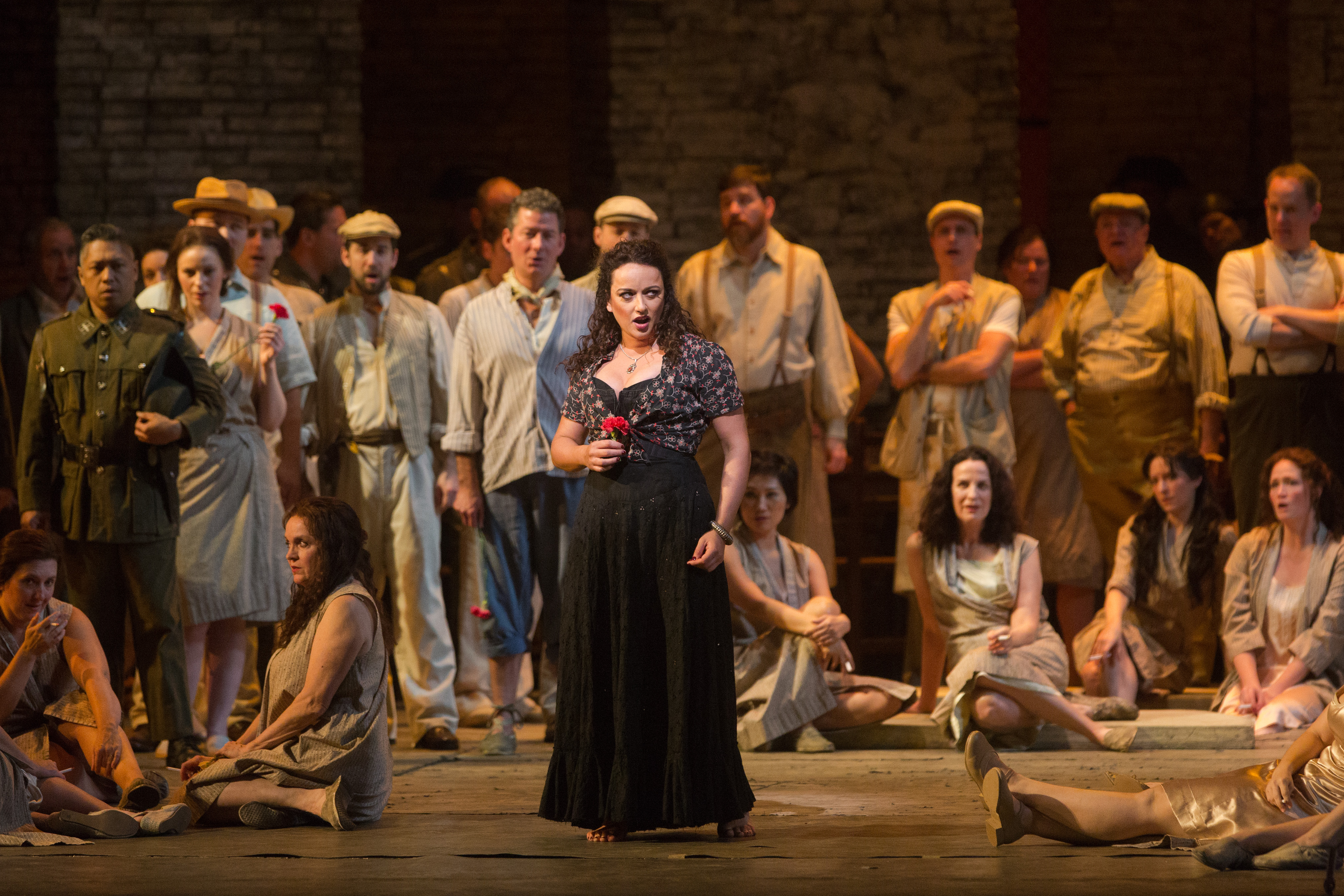 "Clémentine Margaine in the title role of Bizet's ""Carmen."" (Credit: Marty Sohl)"