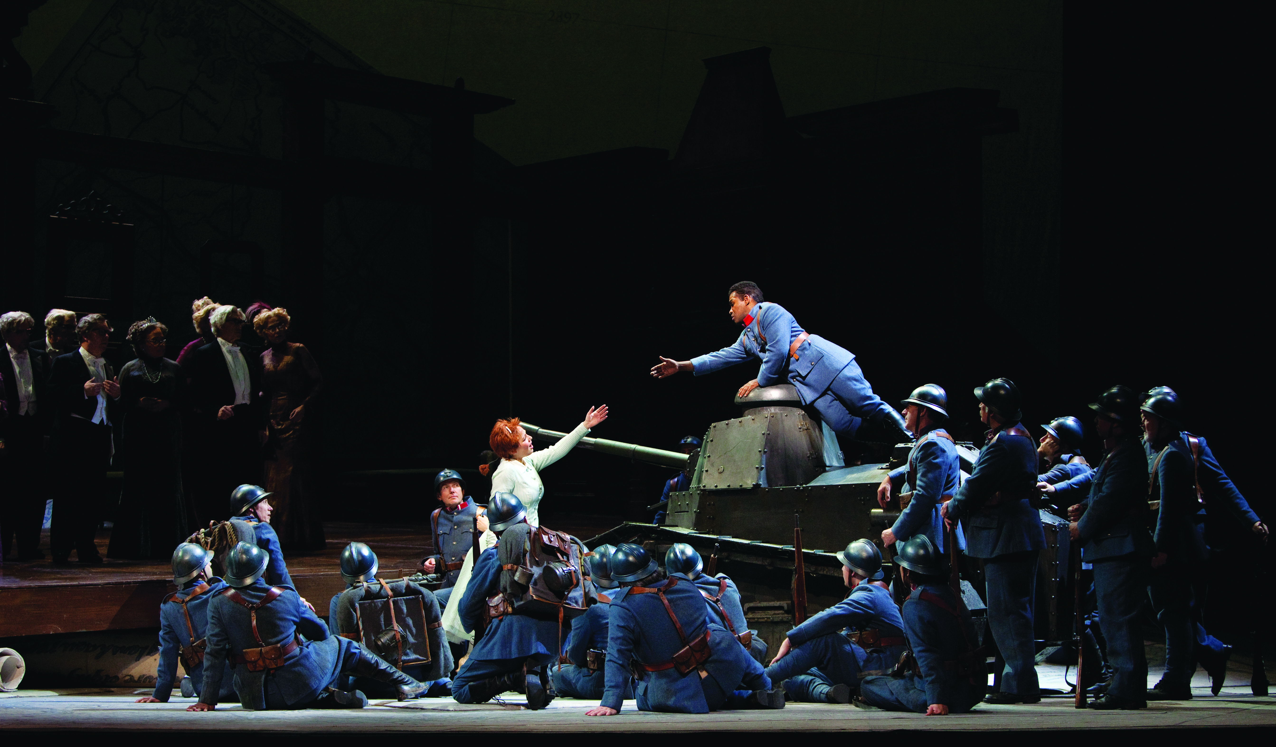 "A scene from Donizetti's ""La Fille du Régiment."" (Credit: Marty Sohl)"