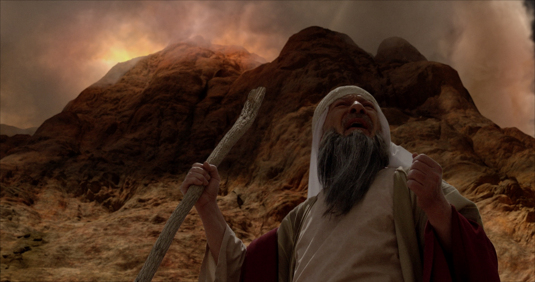 "Animation depicts Moses speaking from the base of Mt. Sinai in ""Patterns of Evidence: The Moses Controversy."""