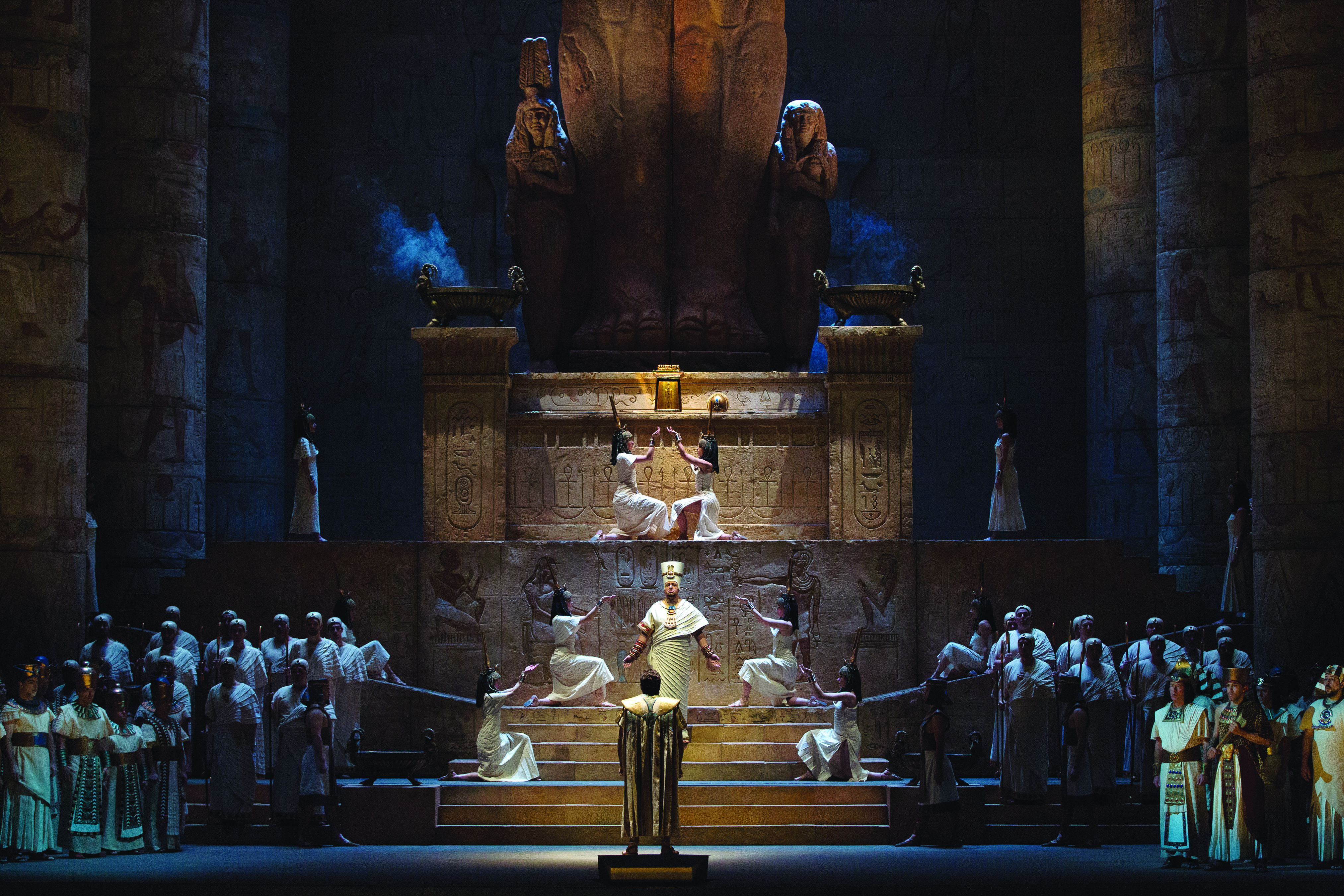"A scene from Verdi's ""Aida."" (Credit: Marty Sohl)"
