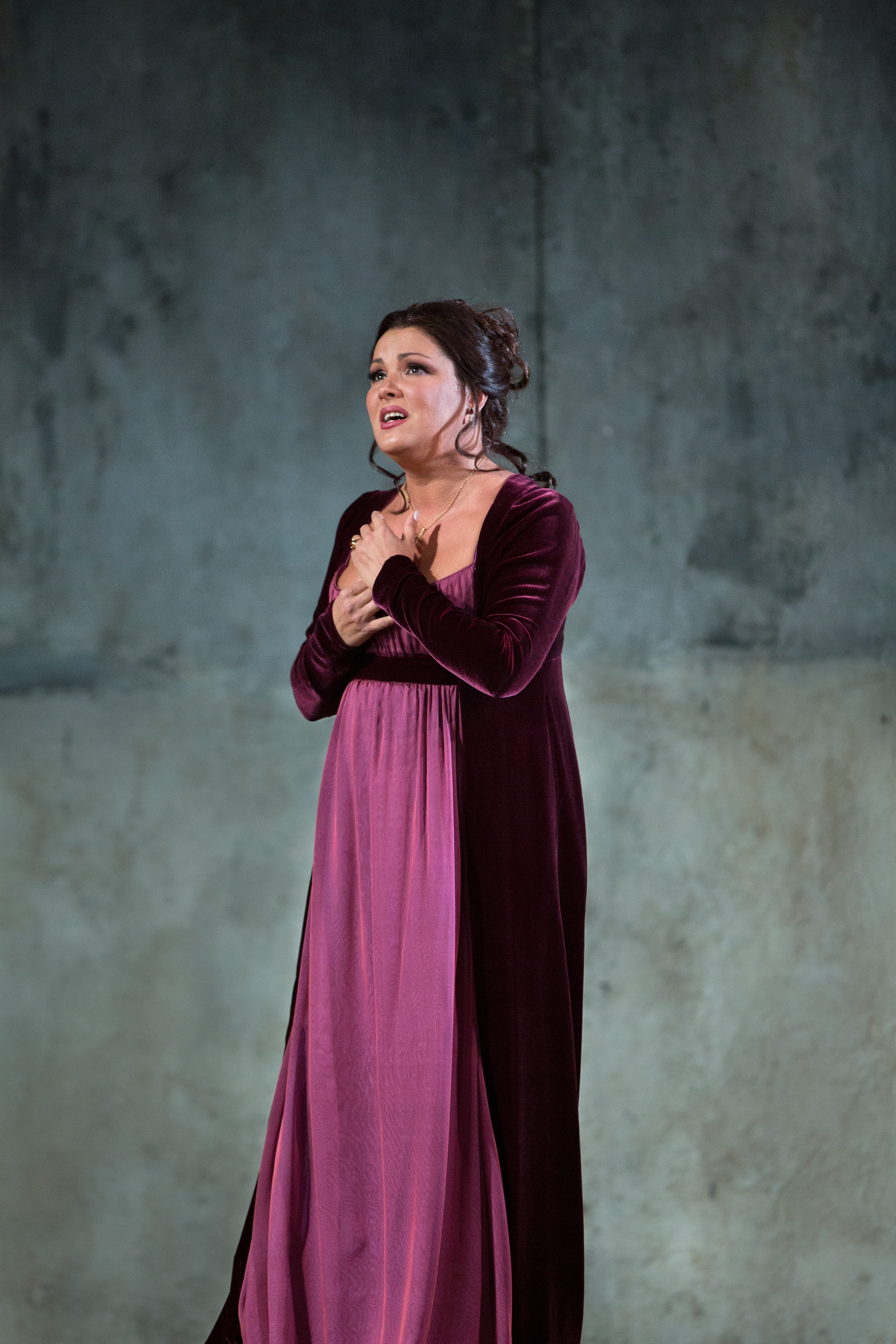 "Soprano Anna Netrebko (pictured above in Verdi's ""Il Trovatore"") sings the title role in Verdi's ""Aida."" (Credit: Marty Sohl)"