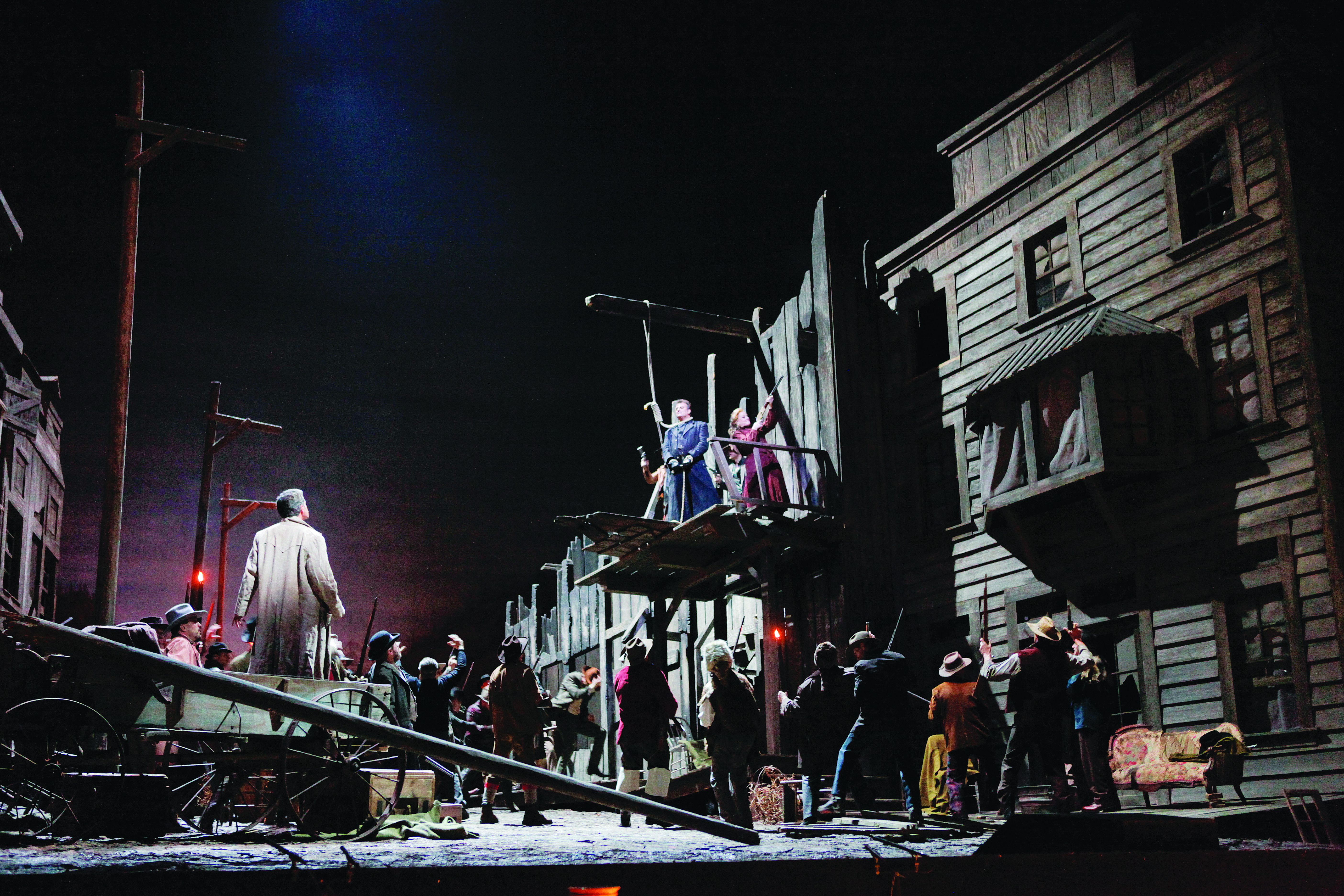 "A scene from Act III of Puccini's ""La Fanciulla del West."" (Credit: Ken Howard)"