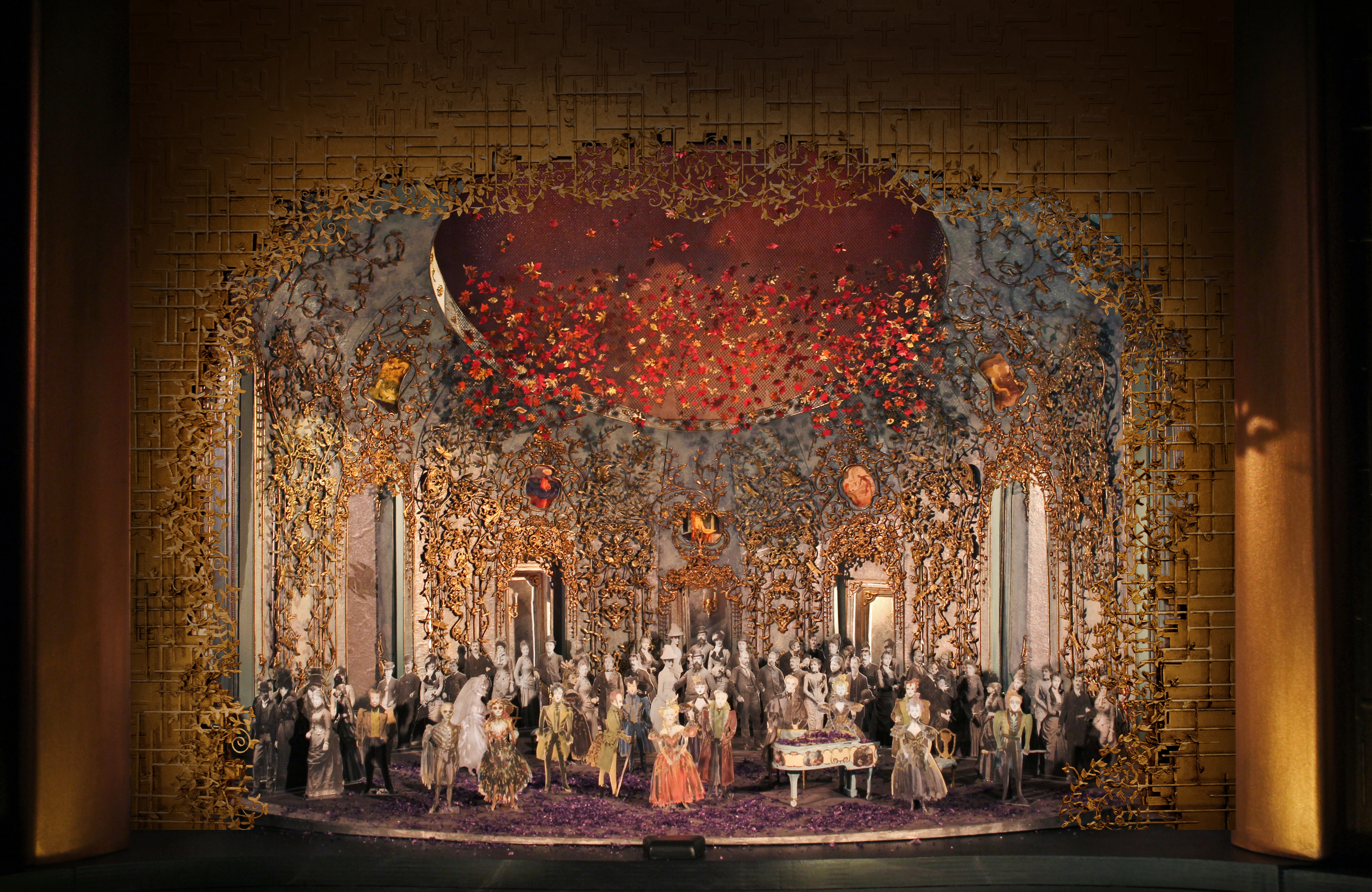 "Christine Jones' set model for Act II, Scene 2 of Michael Mayer's new production of Verdi's ""La Traviata."" (Credit: Met Opera Technical Department)"